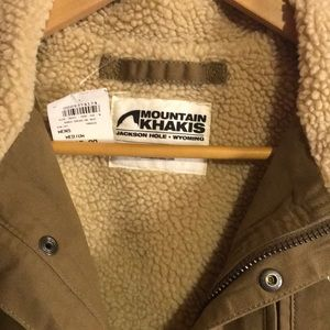 Mountain Khakis Jackets & Coats - NWT MOUNTAIN KHAKIS  RANCH SHEARLING VEST